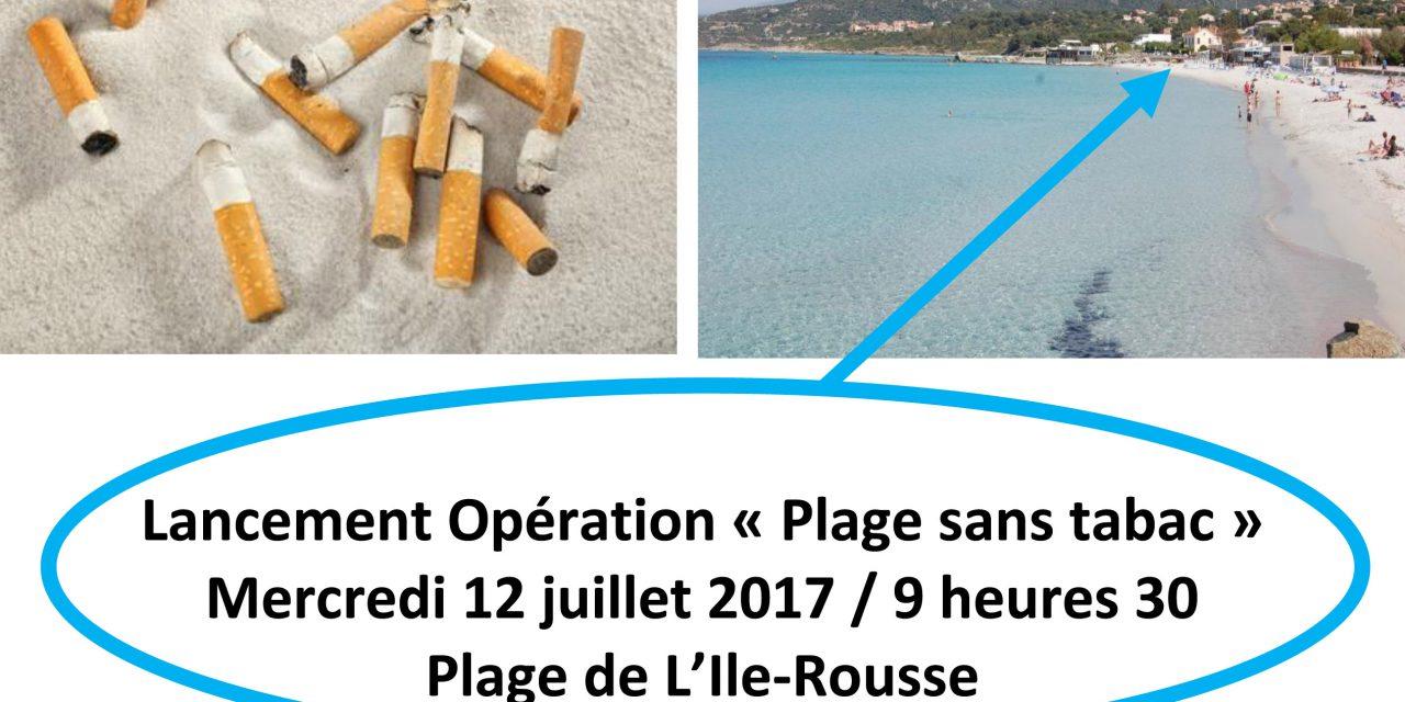 Inauguration de la Plage sans Tabac