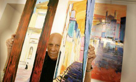 Le peintre José Lorenzi au Spaziu