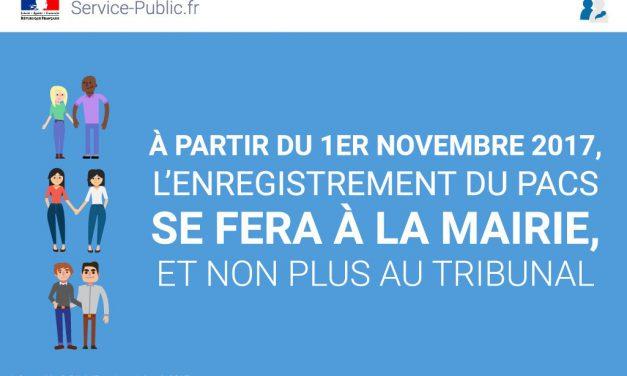 Réforme du PACS au 1er novembre
