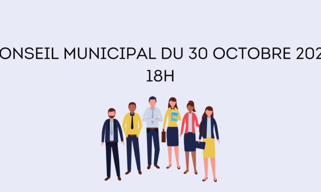 Conseil Municipal – 30 Octobre 2020 à 18h