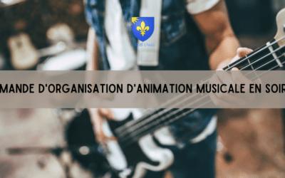 Demande d'organisation d'animation musicale en soirée