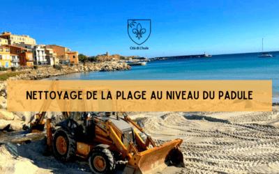 Nettoyage de la plage au niveau du Padule
